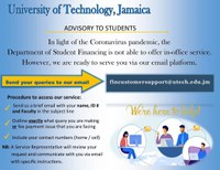 Department of Student Financing Advisory - Accessing Student Financing Services